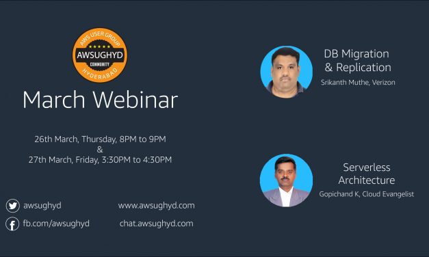 AWS Webinar Week – March 2020